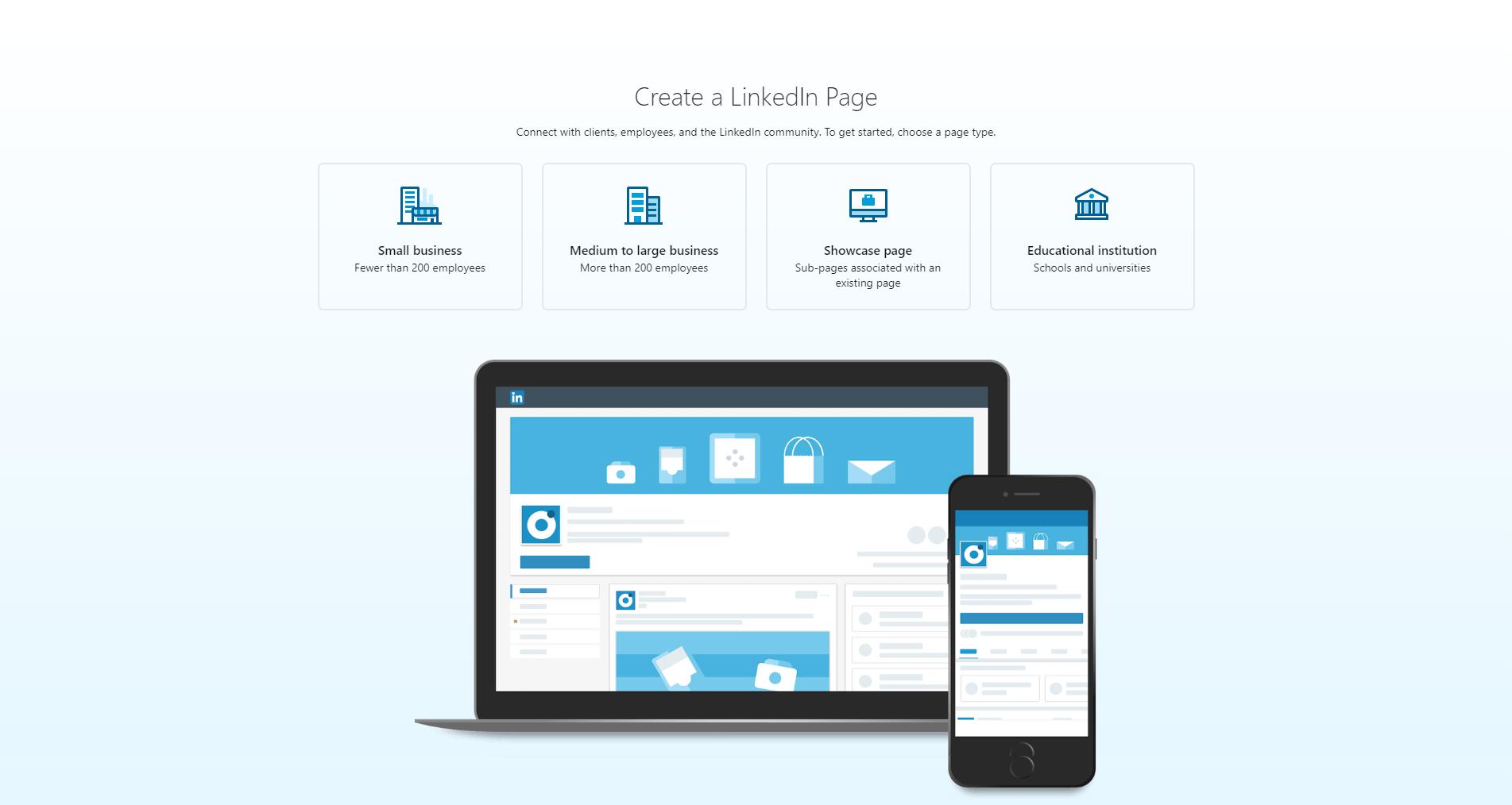 Kreiranje LinkedIn stranice
