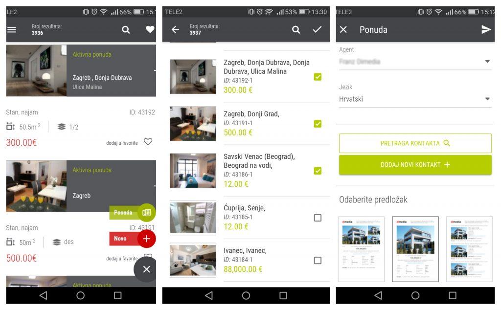 Dimedia nekretnine PRO slanje ponuda