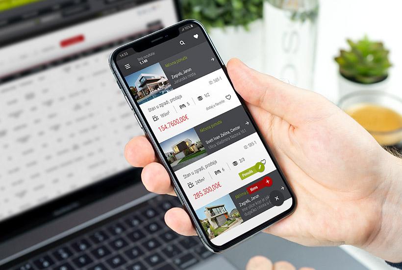 Mobilna aplikacija Dimedia nekretnine