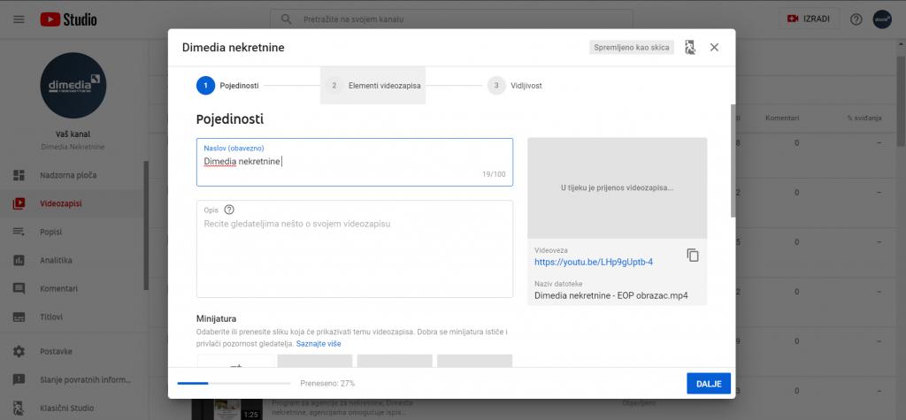 YouTube, naslov i opis