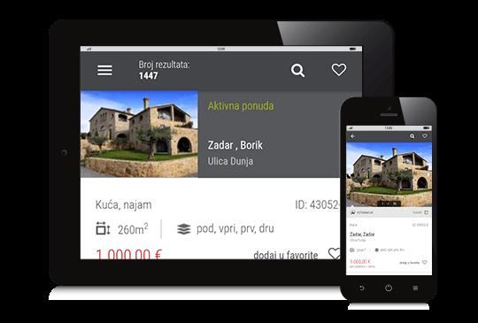 Mobilna aplikacija za nekretnine